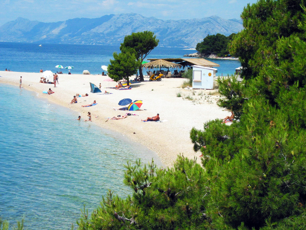 Makarska, Chorvátsko - pláž