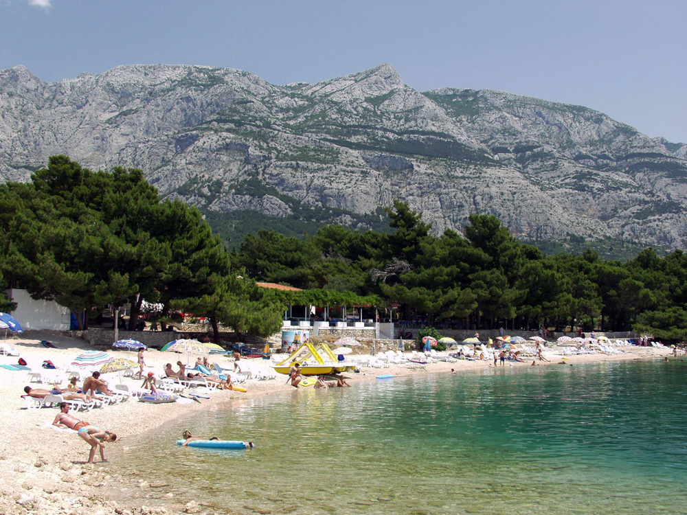 Makarska, Chorvátsko pláž